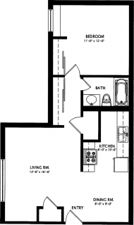 1 Bed / 1 Bath / 660 sq ft / Availability: Please Call / Deposit: $685 / Rent: $685