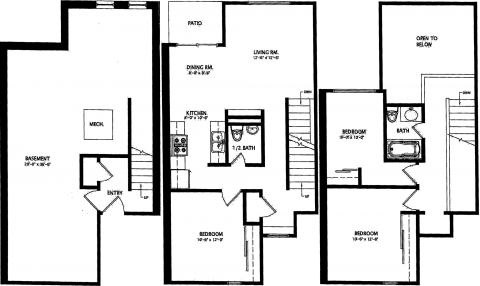 3 Bed / 1½ Bath / 1,740 sq ft / Availability: Please Call / Deposit: $960 / Rent: $960